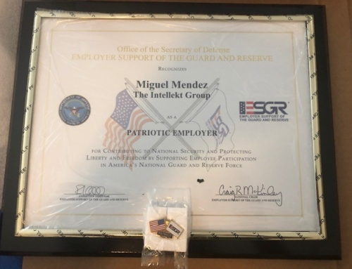 Intellekt Honored as ESGR Patriotic Employer